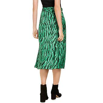 INC International Concepts Womens INC Belted Printed Midi Skirt