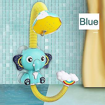Electric Elephant Pool Baignoire Jouets Sprinkler Sucker Spray Jouets d'eau pour enfants (Bleu)