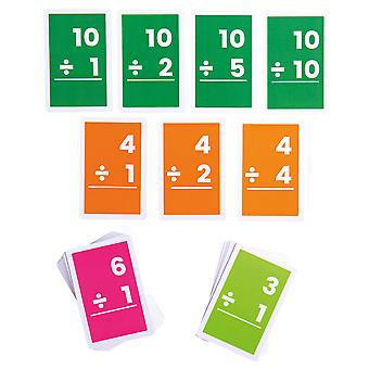Bigjigs Toys Flashcards - Divisions 1-10