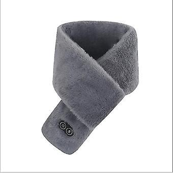 Fieber Heizung Massage Schal Männer Und Frauen Winter Neue Warme USB-Aufladung (Grau)