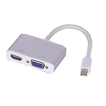 Mini DisplayPort HDMI VGA adapter kábelhez,Mini DP átalakító 4K(Szürke)