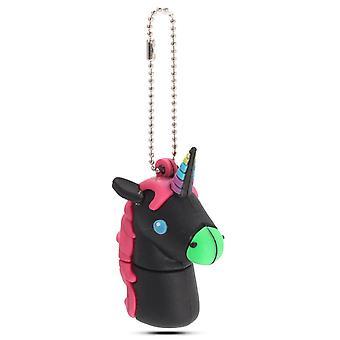 32G Cute Horse USB 2.0 Flash-Laufwerke USB Memory Stick Cartoon Pen Drive Schwarz