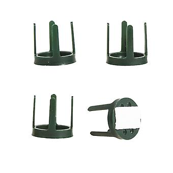 4 Green Plastic Self Adhesive Flower Holders for Floristry Crafts