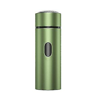 Home Travel Portable Men's Electric Shaver Razor Beard Trimmer USB Rechargeable(Green)