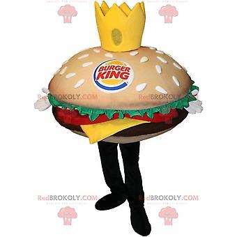 Maskottchen REDBROKOLY.COM ein riesiger Hamburger.Maskottchen REDBROKOLY.COM burger King