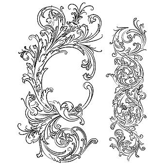 """Tim Holtz Cling Stamps 7""""X8.5"""" - Fabulous Flourishes"""