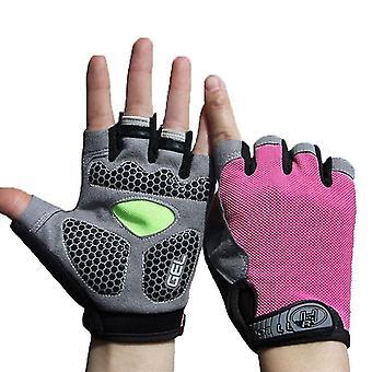 Männer & Damen Sport 3D Gel Gepolsterte Anti-Rutsch Handschuhe