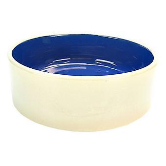 "Spot Ceramic Crock Small Animal Dish - 9"" Diameter"