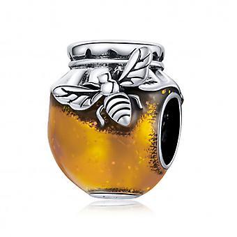 Sterling Silber Charm Honigglas - 7191