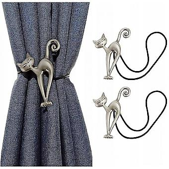 Curtain holdbacks tassels 1 pair of cat magnetic curtain straps  pure curtain straps  curtain brackets  curtain fastening