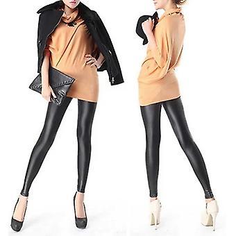 Sexy Frauen Kunst Pu Leder Leggings Skinny Bleistift Hose Hose Strumpfhosen