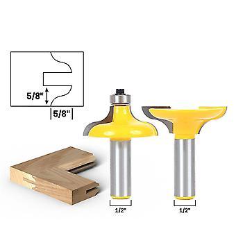 5pcs Wood Splice Tenon Mortise Bit Wood Door Cutting Groove Woodwork Tongue And Groove Set Slotting Tool