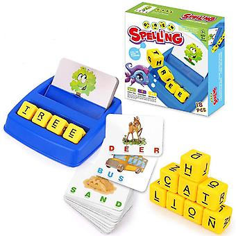 Matching Letter Game Cartoon Educational Alphabet Reading Spelling Words-early Learning Toy Preschoolers-interactive Game