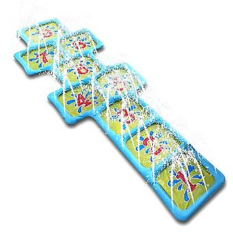 Summer Hopscotch Outdoor Game Mat Inflatable Toy Fun Splash Playing Water Sprinkler Accessories