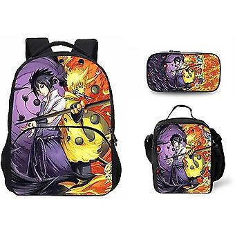 Koolyou Naruto School Bag School Bag 3 Piece Set Laptop Backpack + Messenger Bag + Pencil Case 44x28x13cm