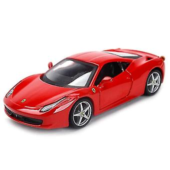 Qian 1:32 Italia Sports Car Static Simulation Die Cast Vehicles Model Car Toys (rojo)