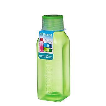 Sistema-Hydrat 475ml quadratische Trinkflasche, limegreen