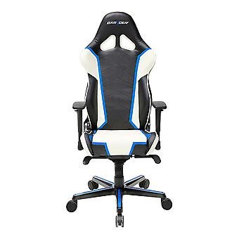 DX Racer DXRacer OH/RH110/NWB High-Back Racing Style Office Chair PU(Black/White/Blue)