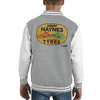 Haynes Brand HWM Ford Capri Specialist Tyres Kid's Varsity Jacket