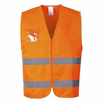 Portwest Mens Hi-Vis Safety Workwear Polycotton Vest