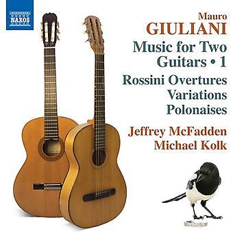 Giuliani / McFadden / Kolk - Mauro Giuliani: música para importação EUA duas guitarras Vol 1 [CD]