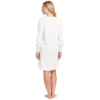 Féraud 3883038-10044 Mujeres's Champagne White Cotton Night Loungewear Nightdress Nightdress