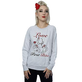 ディズニー プリンセス女性が雪の最初の一口のトレーナーに白の愛