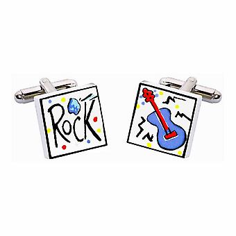 Rock Cufflinks by Sonia Spencer, in Presentation Gift Box. Music