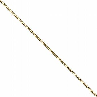 18ct Gold 1mm wide bright cut Curb Pendant Chain 20 inches