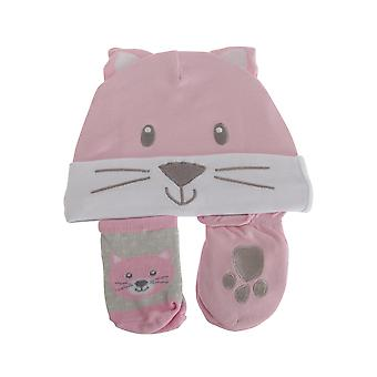 Nursery Time Baby Girls 3 Piece Cat Design Gift Set
