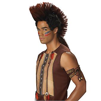Indian Warrior Native American Mohawk Noble Men Costume Wig