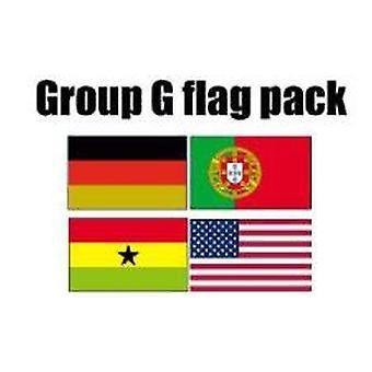 Ryhmä G Jalkapallo World Cup 2014 lipun paketti (5 jalkaa x 3 ft)