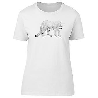 Lion de montagne Pen Style Tee femmes-Image de Shutterstock