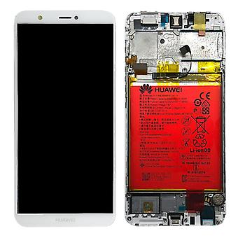 Huawei display LCD unit + Service Pack 02351SVE white frame for P smart