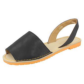 Senhoras Savannah plana Slingback sandálias L6744