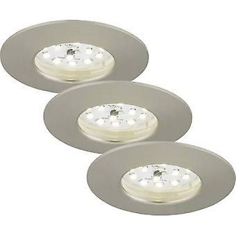 LED badkamer inbouw lichte 3-delige set 15 W Warm witte EEG: LED (A ++ - E) Briloner 7204-032 nikkel (mat)