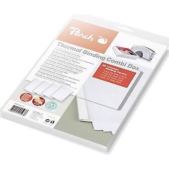 Atascamiento termal carpeta 510689 A4 blanco 20 PC de melocotón