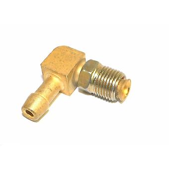 "Big A Service Line 3-82244 Brass 1/4"" Thread x 1/4"" Metal Barbed Tube Fitting"