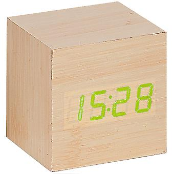 Atlanta 1134 / / 30 alarm clock cube digital wood optics light date thermometer