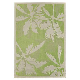 Outdoor-Teppich für Terrasse / Balkon Teppich Indoor / Outdoor - für drinnen und draussen Wohnzimmer Palme grün-natur 160X230 cm
