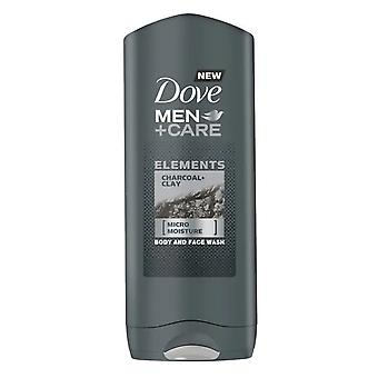 Dove Men Care Charcoal Clay Body and Face Wash