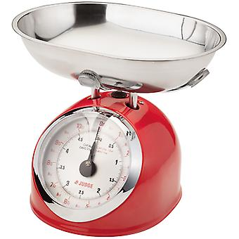 Judge Kitchen, 5.0kg Traditional Scale, Red