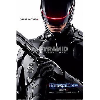 Teaser de poster RoboCop 2014 Joel Kinnaman, Gary Oldman, Michael Keaton, Jackson