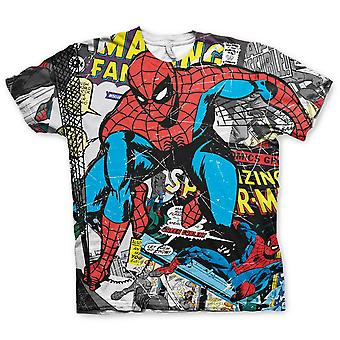 Spider-man T-Shirt komische allover print