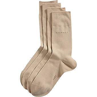 Esprit основные мягкие манжеты 2 Pack носки - крем