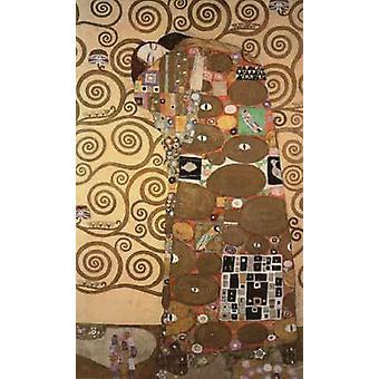 Fulfilment,pattern for the Stoclet Frieze,around,Gustav Klimt,60x40cm
