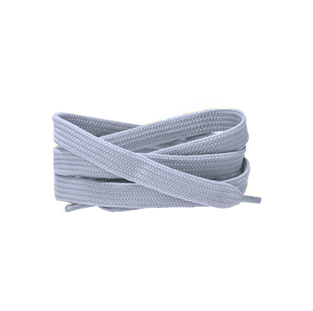 Silver Grey Flat Trainer Laces