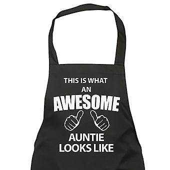 This Is What An Awesome Auntie Looks Like Black Apron