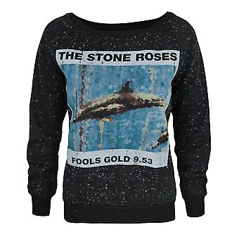 Amplified Stone Roses Fools Gold Women's Sweater Black
