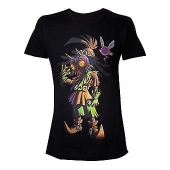 NINTENDO Legend Of Zelda Mens Skull Kid Majoras Maske T-Shirt schwarz (groß) (TS230075ZEL-L)